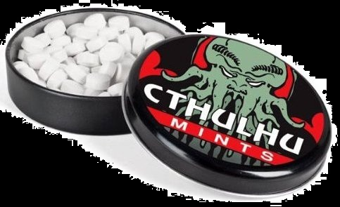Candy for 2012 Halloween Cthulhu Candy Mints