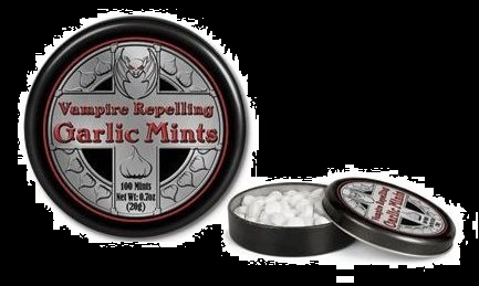 Candy for Halloween 2012 Vampire Repelling Mints Garlic Candy