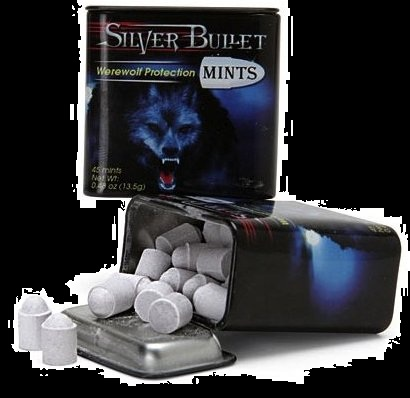 Candy for Halloween Werewolf Silver Bullet Mints for sale