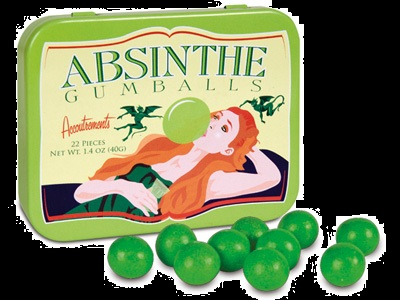 Candy for Halloween Absinthe Flavor Gumballs for Sale