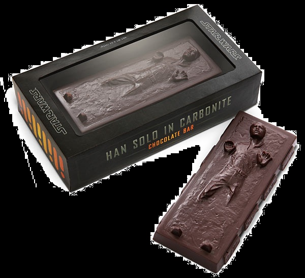 Candy for Halloween Star wars Chocolate Hon Solo Carbonite